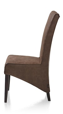 Lydia, Dining Chair - Colonial Leg + Fabric Canyon Cacao