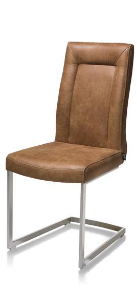 Malene, Chaise - Pied Traineau Inox Carre