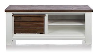 Velasco, Meuble Tv 1-corbeille + 2-niches - 130 Cm