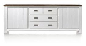 Velasco, Buffet 2-portes + 3-tiroirs - 240 Cm