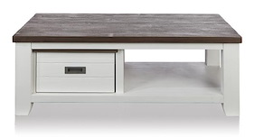 Velasco, Table Basse 120 X 65 Cm + 1-tiroir T&t + 1-niche