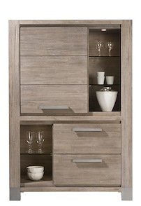Kodiak, Armoire 1-porte + 2-tiroirs + 5-niches - 160 Cm Haut