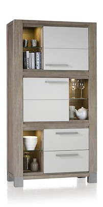 Kodiak, Armoire 2-portes + 2-tiroirs + 6-niches - 190 Cm Haut