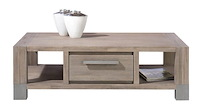 Kodiak, Table Basse 130 X 70 Cm + 1-tiroir T&t + 2-niches