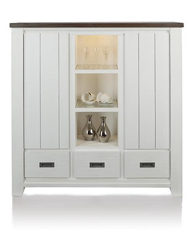Velasco, Highboard 2-portes + 3-tiroirs + 3-niches