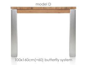 A La Carte, Table A Rallonge 160 (+ 60) X 100 Cm - Dirk
