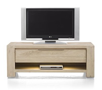 Buckley, Dressoir Tv 1-tiroir + 1-niche 120 Cm (+ Led)