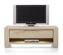 Buckley, Dressoir Tv 1-tiroir + 1-niche 120 Cm (+ Led)