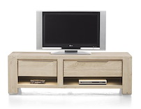 Buckley, Meuble Tv 1-tiroir + 2 Niches + 1-porte Rabattante 150 Cm (+ Led)