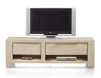Buckley, Meuble Tv 1-tiroir + 2 Niches + 1-porte Rabattante 150 Cm (+ Led)