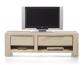 Buckley, Meuble Tv 150 Cm -1-tiroir + 2 Niches + 1-porte Rabattante (+ Led)