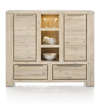 Buckley, Highboard 2-portes + 2-tiroirs + 3-niches (+ Led)