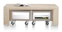 Buckley, Table Basse 120 X 70 Cm Inc. 2x Trolley