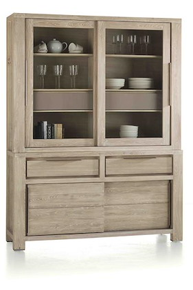 Buckley, Buffet 2-glass Doors + 2-sliding Doors + 2-drawers 150 Cm