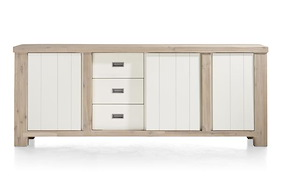 Istrana, Sideboard 2-doors + 1-sliding Door + 3-drawers - 230 Cm