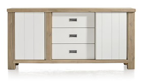 Istrana, Sideboard 1-door + 1-sliding Door + 3-drawers - 180 Cm