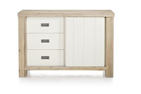 Istrana, Sideboard 1-sliding Door + 3-drawers - 126.5 Cm