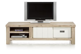 Istrana, Meuble Tv 1-porte Coulissante + 1-tiroir + 2-niches 160 Cm