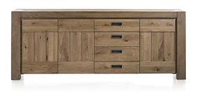 Santorini, Sideboard 3-doors + 3-drawers - 230 Cm