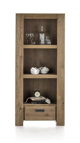Santorini, Bookcase 1-drawer + 3-niches