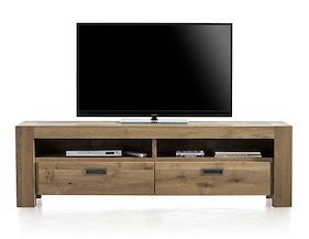 Santorini, Tv-sideboard 2-drawers + 2-niches - 180 Cm