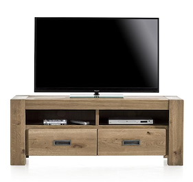 Santorini, Meuble Tv 2-tiroirs + 2-niches - 140 Cm