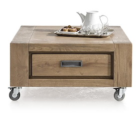 Santorini, Coffee Table 80 X 80 Cm + 1-drawer T&t