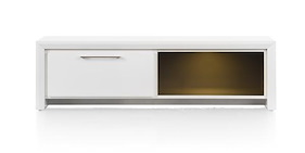 Kozani, Meuble Tv 1-tiroir + 1-niche - 140 Cm