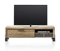 Modrava, Meuble Tv 1-porte Rabattante + 1-corbeille + 1-niche - 150 Cm
