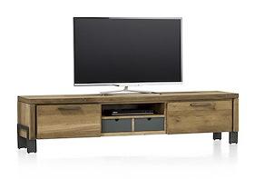 Modrava, Meuble Tv 1-porte Rabattante + 1-tiroir + 1-corb + 1-niche -180 Cm