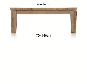 A La Carte, Table Basse 140 X 70 Cm - Cor