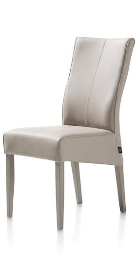Elke, Chaise Pieds Hetre + Weathered Grey + Moreno