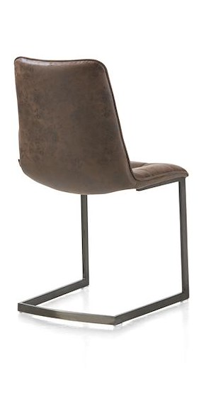Kate, Dining Chair - Vintage Metal + Old English Dark Brown
