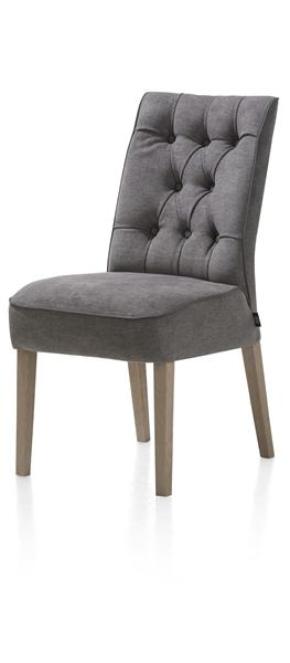 Jenna, Dining Chair - Oak Weathered Grey - Volterra / Tatra