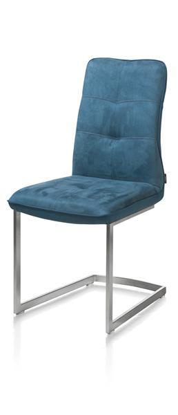 Milva, Chair - Pied Inox Traineau Carr