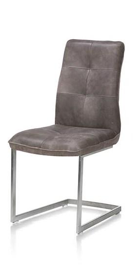 Milan Cuir, Chaise - Pied Traineau Inox Carre