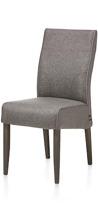 Evita, Chair - Oak Leg + Fabric Forli Taupe + Piping Tatra Clay