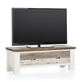 Tibro, Meuble Tv 1-porte Rabattante - 115 Cm