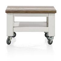 Tibro, Table Basse 55 X 55 Cm + Roues