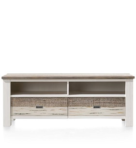 Tibro, Lowboard 2-drawers + 2-niches - 160 Cm