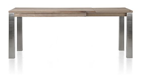 Masters, Table A Rallonge 140 (+60) X 90 Cm - Inox 9x9