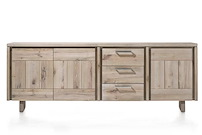 More, Buffet 3-portes + 3-tiroirs 240 Cm - Bois