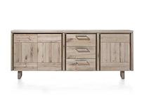 More, Buffet 3-portes + 3-tiroirs 220 Cm - Bois