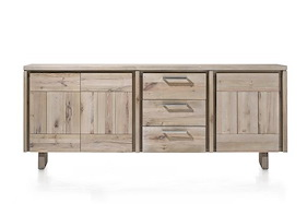 More, Sideboard 3-doors + 3-drawers 220 Cm - Wood