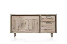 More, Sideboard 2-doors + 3-drawers 180 Cm - Wood
