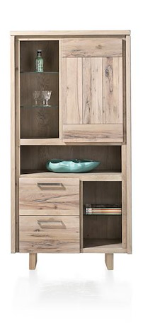 More, Armoire 1-porte + 2-tiroirs + 6-niches - Bois