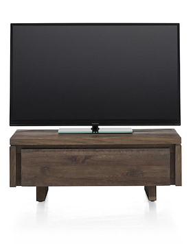 More, Meuble Tv 100 Cm - 1-porte Rabatante - Bois