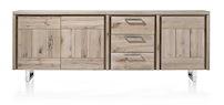 More, Buffet 3-portes + 3-tiroirs 240 Cm - Inox