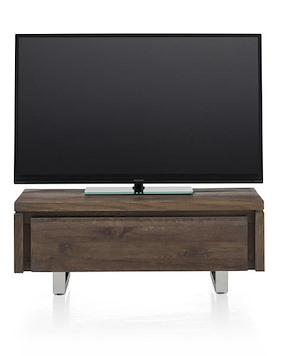 More, Meuble Tv 1-porte Rabattante 100 Cm - Inox