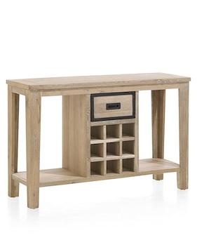 Atelier, Side Table 120 X 40 Cm + 1-drawer + 9-winerracks